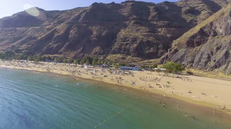 alpes : Aerial view of Teresitas Beach, Tenerife, Spain