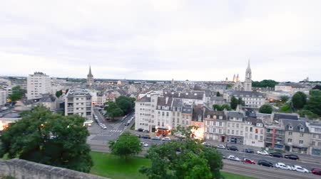 normandie : Panoramic aerial view at sunset of Caen, Normandy - France