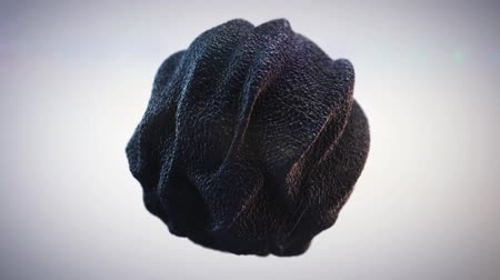 Abstract Black Sponge Organic Sphere Object Virus