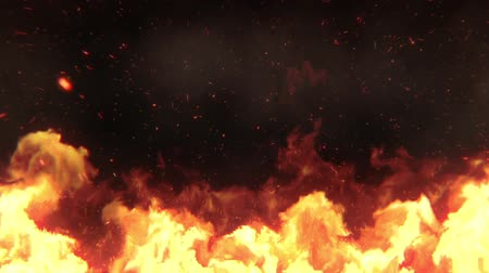 Realistic Fire backround for titles Stok Video