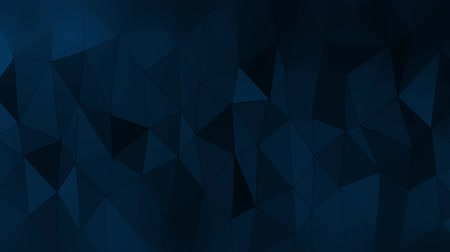 Blue polygonal geometric surface. Computer generated seamless loop abstract motion background.