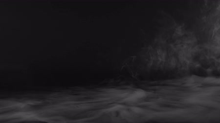Ground Realistic Smoke Clouds with alpha channel Dry Ice Smoke Storm Atmosphere Fog Overlay (footage Background) for different projects Stok Video