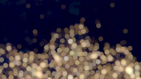 Abstract Twinkling Warm White Bokeh Christmas Lights Effect Glitter Background Bottom Wideo