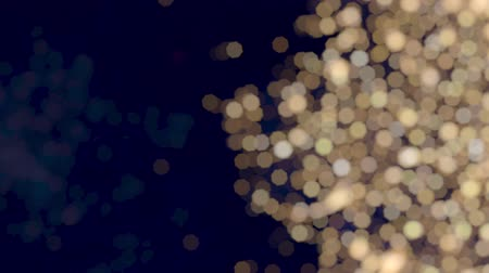 Abstract Twinkling Warm White Bokeh Christmas Lights Effect Glitter Background Side