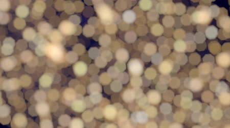 Twinkling Warm White Bokeh Christmas Lights Effect Glitter Background