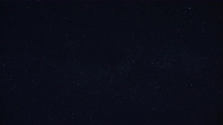 astro : Looped video of subtly realistic twinkling dense star field against a clear dark blue night sky.