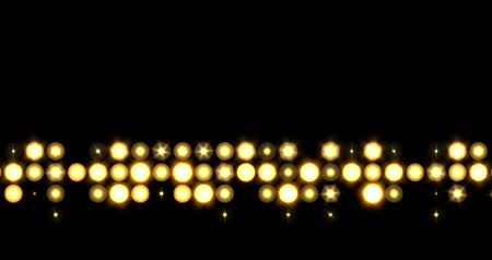 emelkedő : Yellow nightclub stage backdrop LED panel lights single line visual on a black background, animated in a twinkling upwards delayed movement motion.