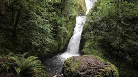 mohás : Bridal Veil Falls Located in Bridal Veil Creek in the Columbia River Gorge in Oregon 1920x1080
