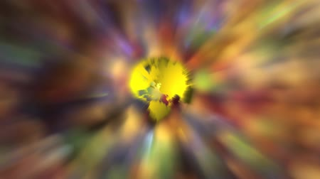 czerwone tło : Spinning Planet Earth on Abstract Colorful and Sparkly Moving Out of Focus Bokeh Background 1920x1080 Wideo