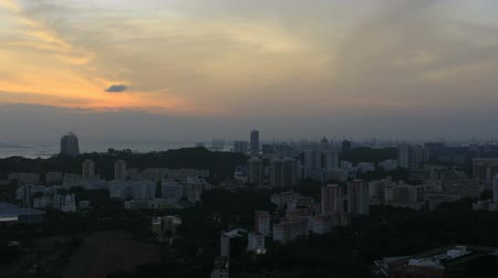 wschód słońca : Singapore Cityscape at Sunset with Moving Clouds Time Lapse 1920x1080
