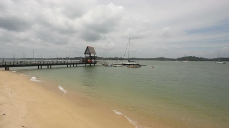 natura : Scenic Changi Point Beach on a Cloudy Day in Singapore 1080p
