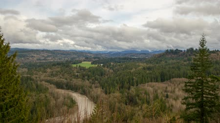 ahır : Sandy River Basin Scenic Landscape Clouds and Sky Time Lapse in Oregon 1920x1080