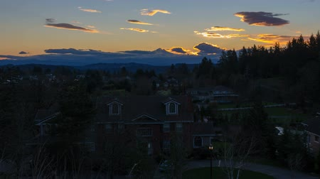 homes : Time Lapse Movie of Sunrise over Suburb Homes in City of Happy Valley Oregon with Snow Covered Mount Hood One Early Winter Morning 1920x1080