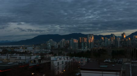 yanliŞ : Timelapse Movie of Moving Clouds and Blue Sky Over Granville Island Vancouver BC Canada at Sunrise One Early Morning at Dawn 1920x1080