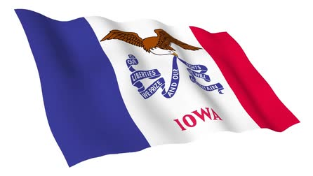 iowa : Iowa Flag Stock Footage