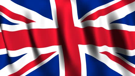 bandiera : UK Flag Animated Filmati Stock