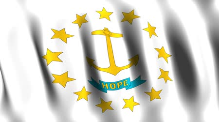 rhode : Rhode Island Animated Flag Stock Footage
