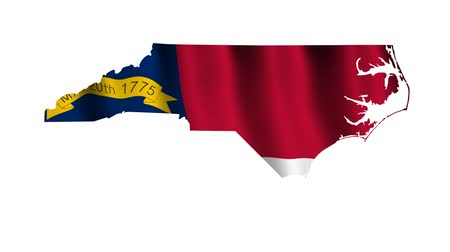 north america : North Carolina Animated Flag