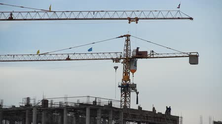 tajlandia : Crane on construction site, Thailand