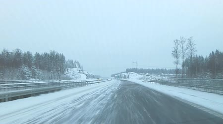 nordic countries : Winter finnish road