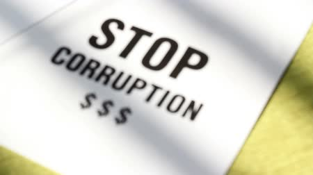 Stop corruption Stok Video