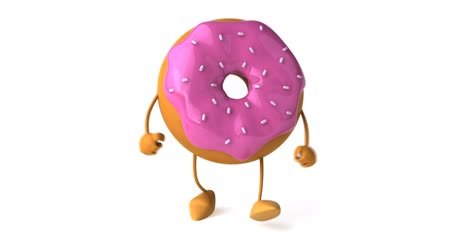 doughnut : strawberry frosted donut character doing the hip hop Wideo