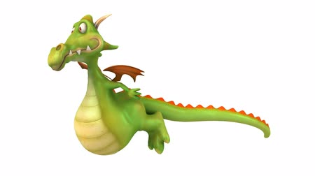 karikatury : 3D dragon side view