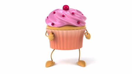 queque : strawberry frosted cupcake character