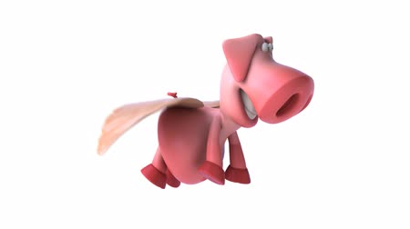 karikatury : pink flying pig