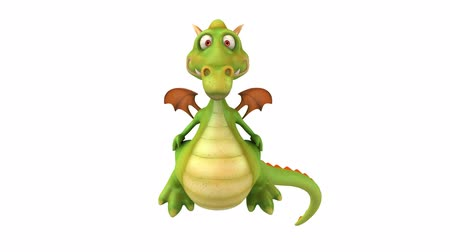 karikatury : 3D dragon front view