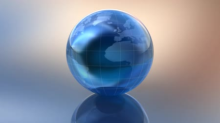 karikatury : 3D world globe in glass