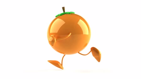 karikatury : 3D Orange Character