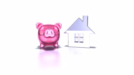 investimento : pink pig and a house Vídeos