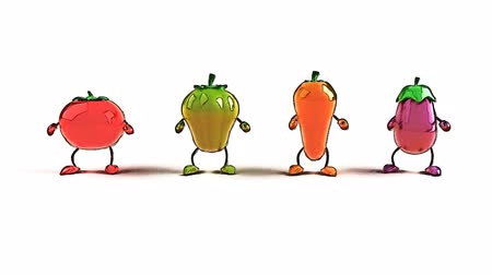 estilo de vida saudável : dancing vegetables Vídeos