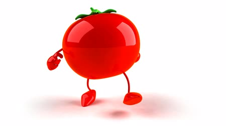pomodoro : WalkingTomato 3D Character Filmati Stock
