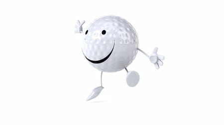 ура : Golf ball character jumping
