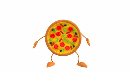 ура : Pizza character jumping