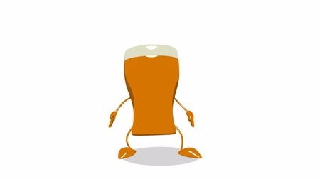 ура : Beer character jumping