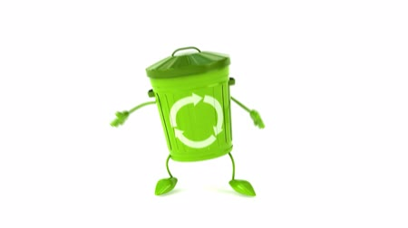ура : 3D recycle bin character jumping