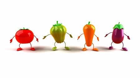 ура : Vegetable characters jumping