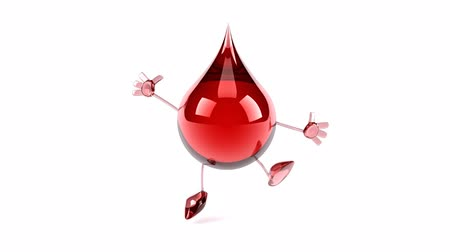 ура : 3D blood droplet character jumping