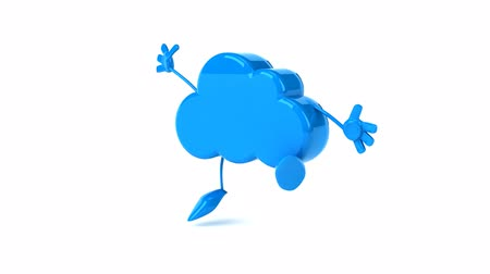 ура : 3D cloud character jumping