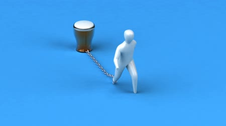ivászat : Person chained down by beer