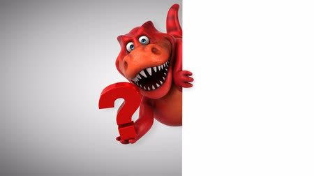 tirannosauro : Cartoon trex con punto interrogativo