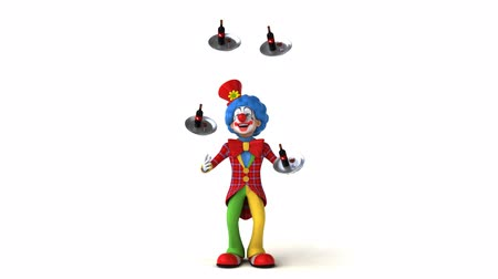coringa : Cartoon clown juggling wines