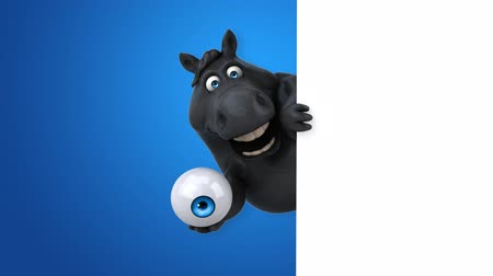 szemgolyó : Cartoon horse holding an eyeball