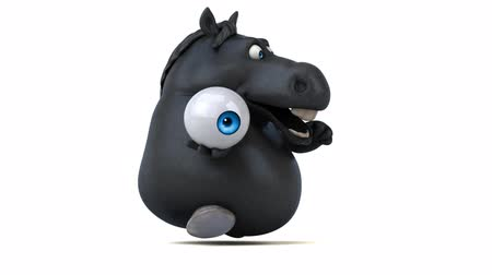 konie : Cartoon horse running with an eyeball