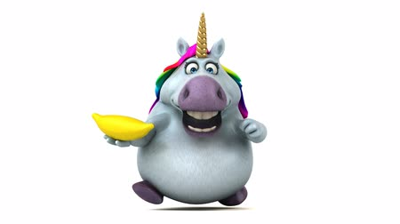 lő : Cartoon unicorn with a banana