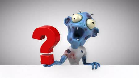 rothadó : Cartoon zombie with question mark