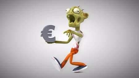 rothadó : Cartoon zombie with Euro symbol